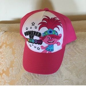 NEW Trolls pink baseball hat with adjustable band